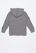 name it - Kids zip through hoodie - grey