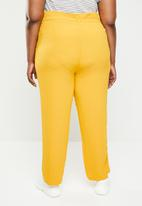 STYLE REPUBLIC PLUS - Soft paperbag waist pants - yellow