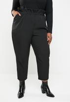 STYLE REPUBLIC PLUS - Paperbag waist pant - black