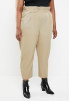 STYLE REPUBLIC PLUS - Paperbag waist pant - beige