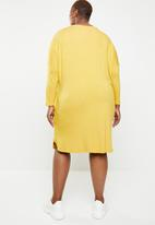 STYLE REPUBLIC PLUS - Three quarter dress with pockets - yellow