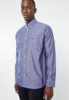 Pringle of Scotland - Aston stripe shirt - blue & white