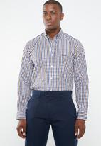 Pringle of Scotland - Othman classic fit shirt - navy & brown
