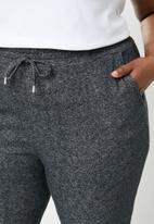 STYLE REPUBLIC PLUS - Draw cord cuffed jogger - grey