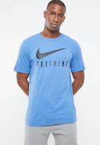Nike - Nike dry tee nike train - blue & black