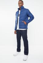 Jack & Jones - Puffer stand collar jacket - blue