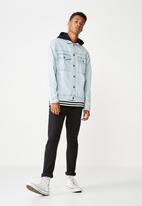 Cotton On - Hooded denim jacket - blue
