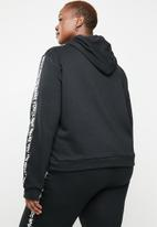 STYLE REPUBLIC PLUS - Slogan hoodie - black & white
