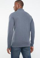 Jack & Jones - Polo long sleeve tee - blue