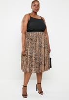 STYLE REPUBLIC PLUS - Pleated skirt - multi
