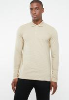 Jack & Jones - Polo long sleeve tee - beige