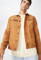 Cotton On - Sherpa collar rodeo jacket - tan