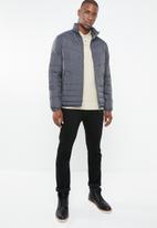 Jack & Jones - Puffer stand collar jacket - grey