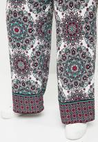 STYLE REPUBLIC PLUS - Wide leg flat front pants - multi