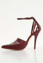 Footwork - Stiletto heel - maroon