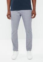 Selected Homme - Harval check slim fit pants - navy & white
