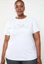 STYLE REPUBLIC PLUS - Rebel T-shirt - white