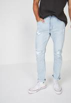 Cotton On - Rips tapered leg jean - blue