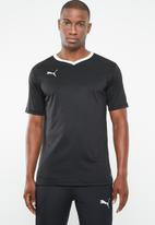 PUMA - Liga V-neck senior jersey top - black & white