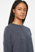 Superbalist - 2 Pack textured knit top - charcoal & cream