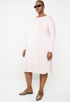 STYLE REPUBLIC PLUS - Three quarter dress with pockets - pink