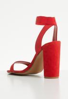 Steve Madden - Ankle strap heel - red