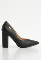 Plum - Block heel - black