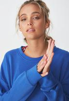 Cotton On - Long sleeve fleece crew top - blue