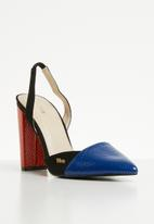 Plum -  Colour-block heel -multi
