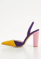 Plum - Colour-block heel - multi