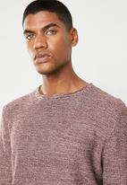 Only & Sons - 12 Structure long sleeve top - brown