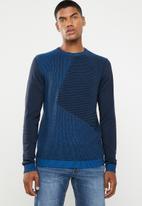 Jack & Jones - Penditon crew neck knit - blue