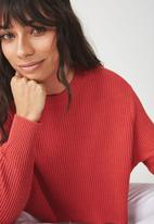 Cotton On - Archy cropped 2 jersey - red