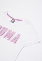 PUMA - Puma style graphic tee 1 g - white