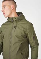 Cotton On - Ma1 hooded bomber jacket - khaki
