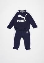 PUMA - Minime prime t7 crew jogger peacoat - navy & white