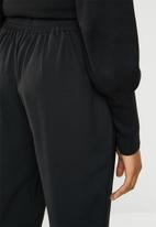 Brave Soul - Baggy trousers with tie waist - black