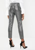 ONLY - Shiny cigarette pants - silver