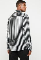 Jack & Jones - Lance shirt long sleeve - black & white