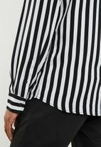 Jack & Jones - Lance shirt long sleeve - black & white