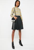 Superbalist - frill neck blouse - check