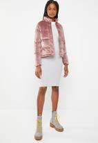 Brave Soul - Velvet padded jacket - pink