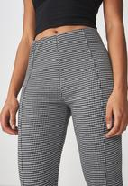 Cotton On - Dante houndstooth leggings - black & grey