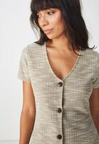 Cotton On - Marlow mini dress - khaki