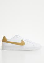Nike - Nike court royale sneakers - white & gold