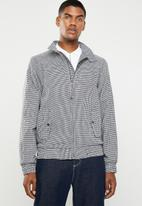 Superbalist - Check harrington - black & white