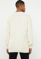 Superbalist - Relaxed fit textured knit - cream