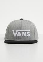 Vans - Drop V II snapback - grey & black