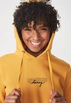 Cotton On - Delevinge graphic hoodie - yellow