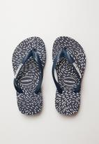 Havaianas - Constelation slim fashion flip flops - navy